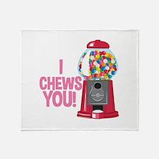 I Chews You Throw Blanket