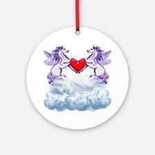Pegasus Love Ornament (Round)