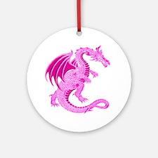 Pink Dragon Ornament (Round)