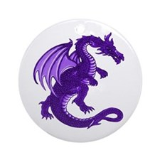 Purple Dragon Ornament (Round)