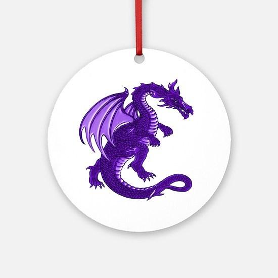 Purple Dragon Ornament (Round)
