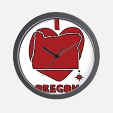 I Love Oregon Wall Clock