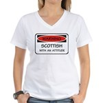 Attitude Scottish Women's V-Neck T-Shirt
