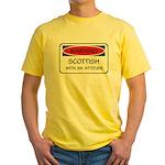 Attitude Scottish Yellow T-Shirt