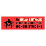 Italian Greyhound Domination Sticker