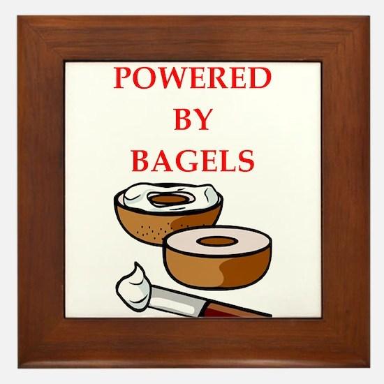 bagels Framed Tile