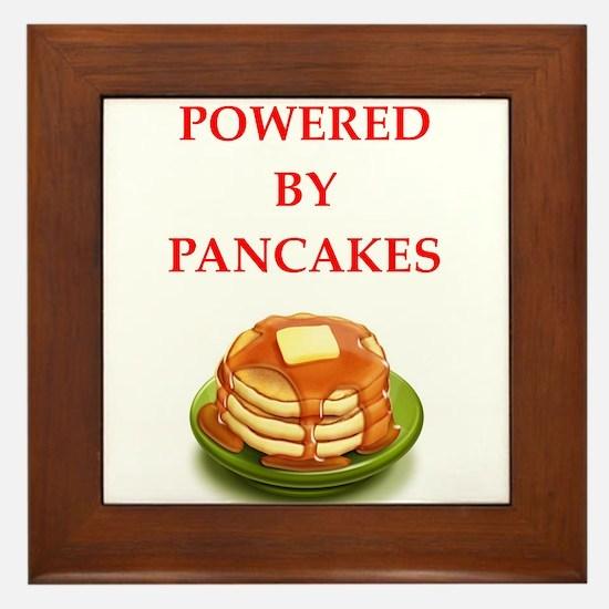 pancakes Framed Tile