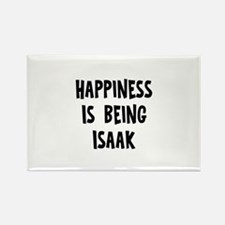 Happiness is being Isaak Rectangle Magnet