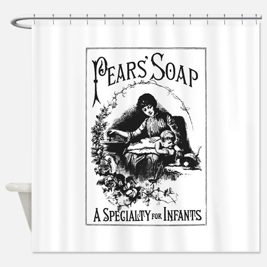 Pears Soap Shower Curtain