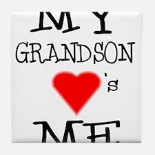 My Grandson Loves Me Tile Coaster