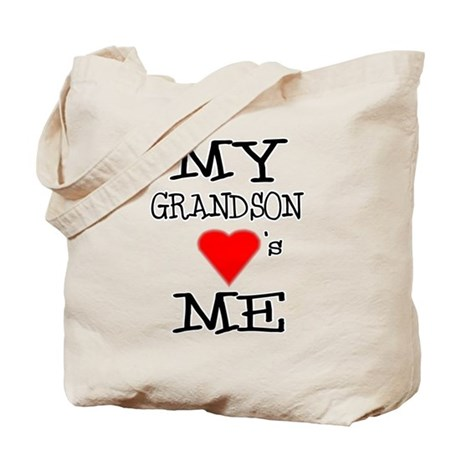 My Grandson Loves Me Tote Bag