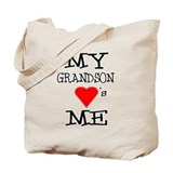 I love my grandson Canvas Totes