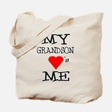 My Grandson Loves Me Tote Bag