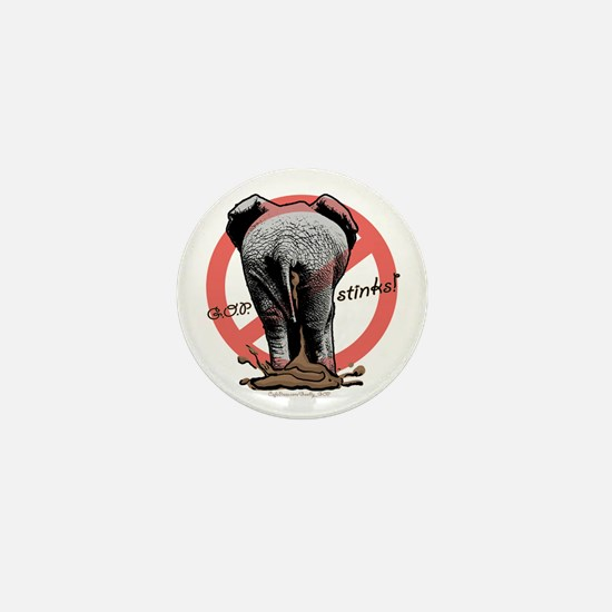 Goobly GOP Elephant Mini Button