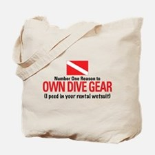 Own Dive Gear (Pee in Wetsuit) Tote Bag