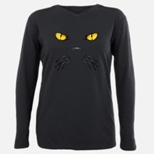 Funny Black cat Plus Size Long Sleeve Tee