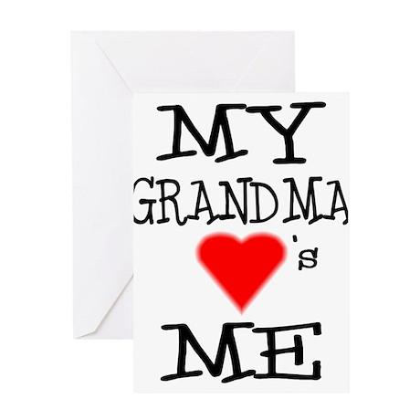 My Grandma Loves Me Greeting Card