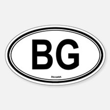 Bulgaria (BG) euro Oval Decal