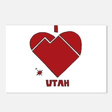 I Love Utah Postcards (Package of 8)