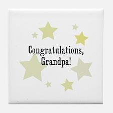 Congratulations, Grandpa! Tile Coaster