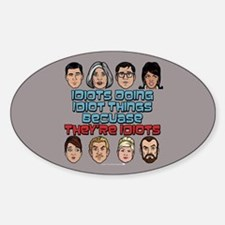 Archer Idiots Sticker (Oval)