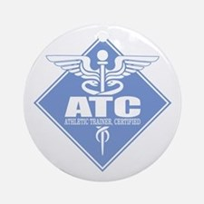 Athletic Trainer Certified Round Ornament