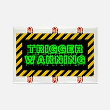 Unique Warning Rectangle Magnet