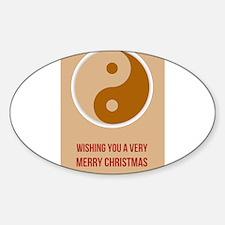 YIN YANG - Merry Christmas Happy New Year Decal
