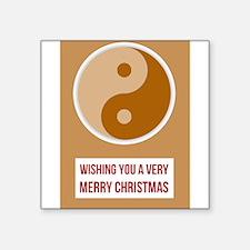 YIN YANG - Merry Christmas Happy New Year Sticker