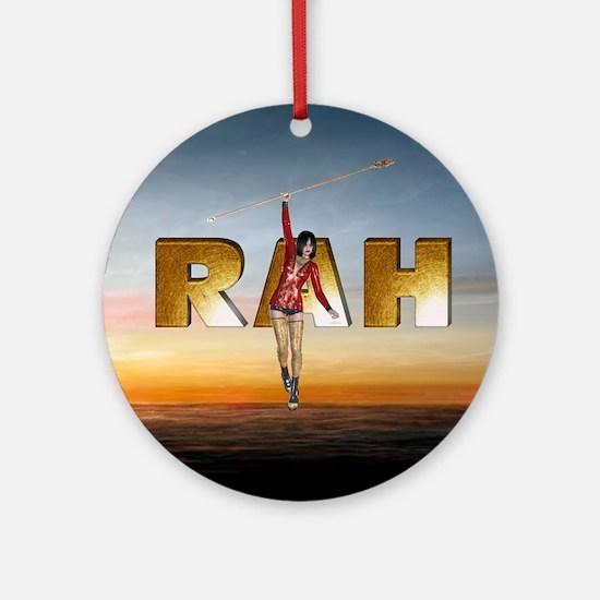 Rah Round Ornament