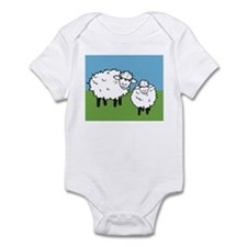 momma sheep baby lamb Infant Bodysuit