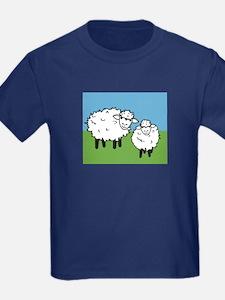 momma sheep baby lamb T