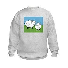 momma sheep baby lamb Sweatshirt