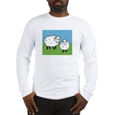 momma sheep baby lamb Long Sleeve T-Shirt