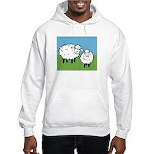 momma sheep baby lamb Hoodie