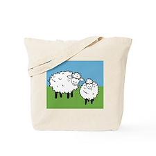 momma sheep baby lamb Tote Bag
