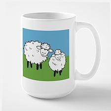 momma sheep baby lamb Mug