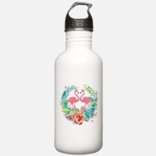 Colorful Tropical Wrea Water Bottle