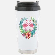 Colorful Tropical Wreat Stainless Steel Travel Mug