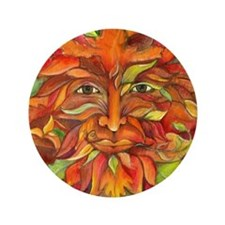 "Autumn Greenman 3.5"" Button"