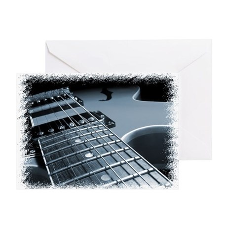 Electric Guitar 1 Blue Greeting Card