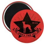 Obey the IG! Italian Greyhound Dog Magnet