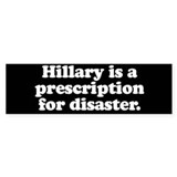 Anti hillary bumper stickers Stickers