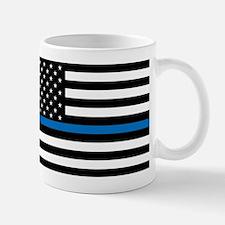 Thin blue line flag Mugs