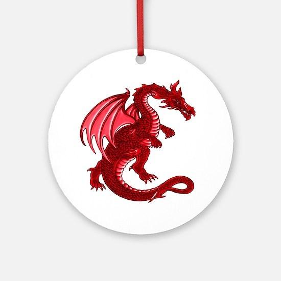 Red Dragon Ornament (Round)