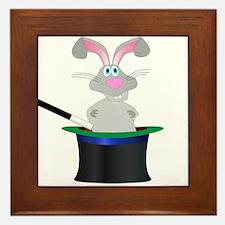Magic Rabbit Hat Framed Tile