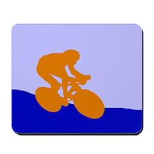 ORANGE CYCLIST Mousepad