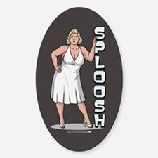 Archer Pam Sploosh Sticker (Oval)