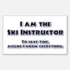 Ski Instructor Rectangle Stickers