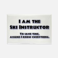 Ski Instructor Rectangle Magnet